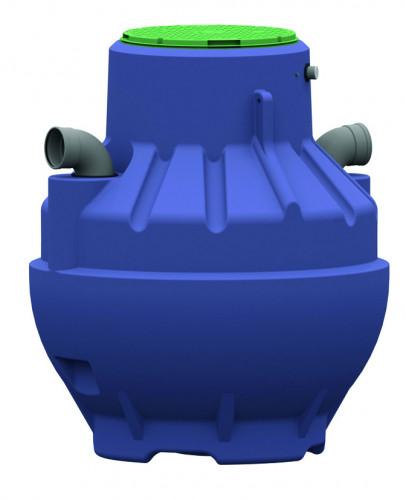 Séparateur d'hydrocarbures PE avec dépotoir, filtre à coalescence et obturateur automatique - Débit 10 l/s